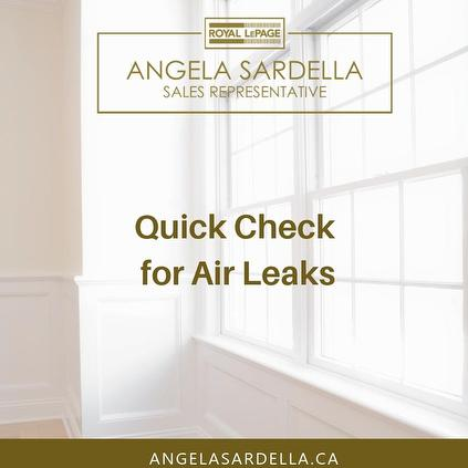 Quick Check for Air Leaks
